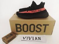 Brand New Adidas Yeezy red Boost 350 V2 Real Boost Core Limited