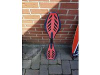 Black and red wiggle board