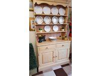 Solid pine kitchen dresser dovetail construction