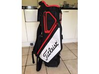 Black & Red Titleist Stand Golf Bag (Brand New)