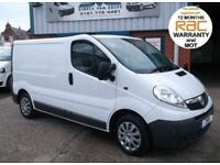 2011 61 VAUXHALL VIVARO SWB 6 SPEED LOW 49,000 MILES JUST SERVICED 12 MONTH MOT