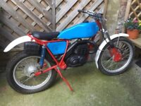 Bultaco Sherpa 325cc trials Motorcycle, Rare1976 model.