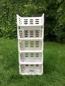 Plastic stackable Baskets (can be used as a tower)