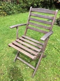 Set of four (4) patio outdoor chairs for garden or deck