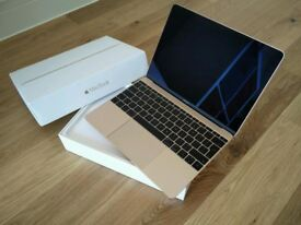 Gold Apple MacBook Retina 2016 12 inch 1.2ghz 8gb 256gb RECEIPT AND APPLE CARE WARRANTY