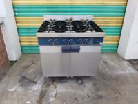 Commercial 6 six burner NAT GAS cooker with oven stott benham commercial cooker