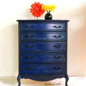 Royal and navy blue dresser