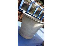 Pair Galvanised Buckets