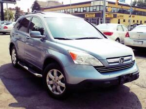 2009 HONDA CR-V EX-L+LOADED+4WD+CLEAN ONLY $96/PMTS