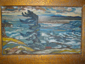"VINTAGE CANADIAN OIL PAINTING / ICONIC IMAGE / "" GROUP OF SEVEN"
