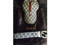 Gucci cap & belt