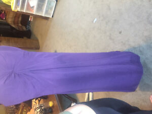 Purple Long Floor Length Dress !