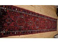 Oriental runner rug, handmade, good condition, 300x72cm