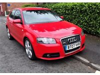2007 Audi A3 Sport 2.0 TDI S-Line AWD Quattro 3dr 170bhp - Full Leather.