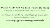 Mental Health First Aid Basic Training - Charlottetown Oct 25&26