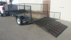 Advantage 6x10 Utility Trailer - 4 foot sides and extended ramp