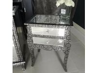 Bedside lockers / tables - mirrored