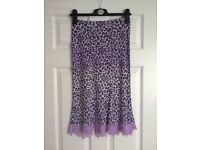 Morgan Purple Leopard Print Skirt and Top £6
