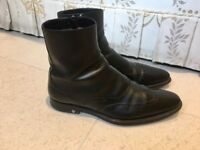 Luxurious Louis Vuitton mens black leather boots, 43 / uk9, rrp £820