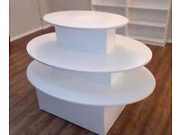 Oval display gondola, white, used, £80 ono