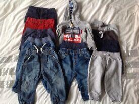 Baby boys 6-9months & 9-12months clothes bundle