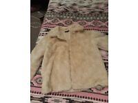 Cream fake faux girls/womans jacket