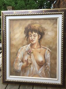 Framed Painting on canvas signed