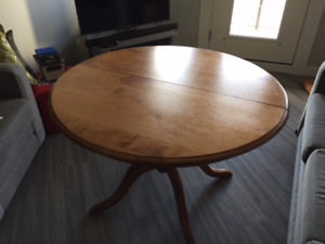 Solid wood table w/ 3 chairs