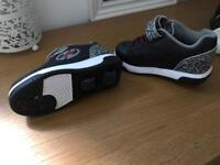 Black and grey heelys size 11 like new condition