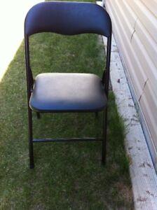 8 Black Folding Chairs