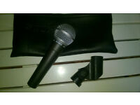 shure sm 58 microphone with pu leather case