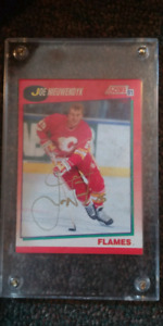 Hockey cards and autographed in mint condition
