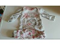 Bundle of girls up to 1 month clothes