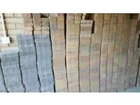 New unused paving bricks assorted (circa 450 bricks ~ spares from recent garden project)