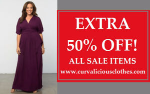 EXTRA 50% OFF! Plus Size Clothing Sale - Sizes 0X-6X