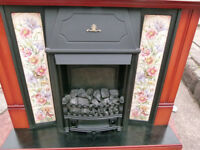 THIS IS FOR A LOVELY ELECTRIC FIRE WITH A MAHOGANY SURROUND