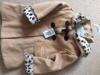 9-12 Month Camel Colour Girls Coat from Matalan with Tag, Highwoods Area, CO4