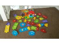 Vtech doggie play house and track