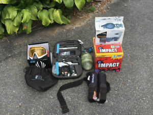 ETEK 3 Paintball Marker + Accessories