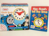 Learn to Tell the Time Flip Book Books & ELC Clock Face