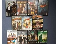11 DVDS (13 MOVIES TOTAL) £10 FOR LOT