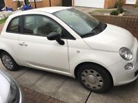 Fiat 500 good condition - white with red interior.
