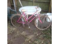 Raleigh triumph 'pink witch 'barn findladies vintage bike.