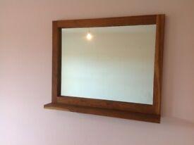 Oak mirror for sale.