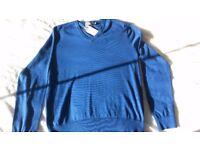 Ralph Lauren Polo Blue Cotton Jumper MEDIUM - NEW
