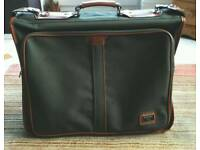 An Antler Suit Carrier Brown Leather​/Green Canvas