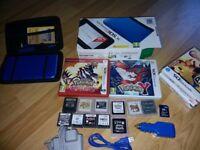 Nintendo 3DS Xl (blue) + games