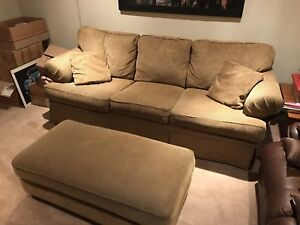 3 person sofa/couch with large ottoman