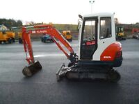 2011 Kubota KX61-3 with new tracks, piped, blade, offset