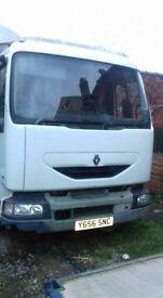2001 (Y) Renault midlum 150 dci 4660cc Diesel engine 7.5 ton flatbed truck 4116cc diesel